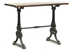 61. Antique Iron Base Ice Cream Parlor Table