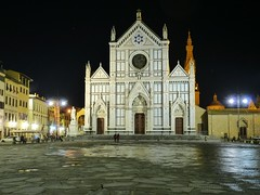 Florence, Italy Basilica di Santa Croce (army.arch) Tags: city italy church night photography florence basilica unesco worldheritagesite piazza santacroce