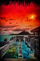 St. Regis, Bora Bora, Tahiti (Tim Moffatt) Tags: travel colour beautiful extreme hilton elite tahiti enhanced hdr highdynamicrange borabora hdri travelphotography tonemapping tonemap hdrextremes extremehdr elitephotography