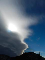 Chinook Clouds 1 (benlarhome) Tags: winter mountain snow canada trekking trek snowshoe kananaskis rockies hiking hike alberta rockymountain prairiemountain