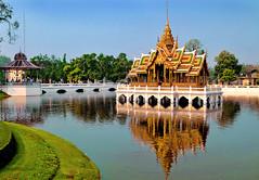 Bang Pa-In Summer palace, Ayutthaya, Thailand (kingdomany) Tags: color art nature architecture thailand temple photo ancient nikon scenery flickr bangkok thai d90