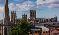 York Minster II (Paul 'Tuna' Turner) Tags: york city uk greatbritain travel vacation england urban holiday tower castle heritage history church ruins worship europe cathedral unitedkingdom britain yorkshire religion gothic culture conservation eu medieval steeple historical christianity yorkminster cliffordstower minster remains royalty europeanunion englishhistory northyorkshire saxon anglicanch