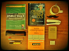 step 3 stuff (ZSZee) Tags: student books study whatsonmydesk officesupplies step3 usmle studytable