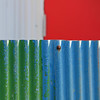 4 colors (tanakawho) Tags: blue red white abstract color green vertical tin rust dof bokeh board 4 nail line squareformat tanakawho somethingblueinmylife