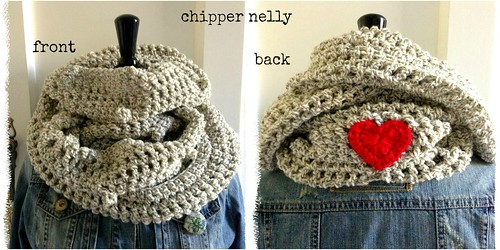 cowl with heart