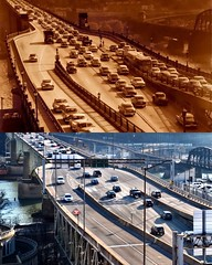 Liberty Bridge - Then & Now - Pittsburgh, PA (JayCass84) Tags: street bridge urban cars car pittsburgh traffic pennsylvania streetphotography streetview urbanstreetphotography urbanphotography 412 instagram instagramapp