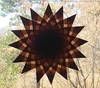 Brown 16 Point Star