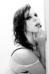 Hot Shower (Julia Ellies) Tags: portrait selfportrait hot sexy me fashion canon shower photography photo blackwhite model foto io autoritratto fotografia bianco ritratto nero calda doccia provocante