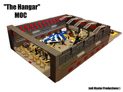 "LEGO STAR WARS ""The Hangar"" MOC (Jedi Master Productions) Tags: star lego hangar master clones jedi wars productions sith droids moc"
