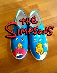 Homero (Camaleon Accesorios) Tags: design simpsons sneakers handcrafted diseo homero tote doh dona keds lona zapatillas mattgroening pintadoamano pinturagnero