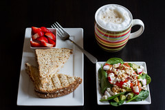 10/52 Food (melbaczuk) Tags: food coffee canon lunch salad bc okanagan strawberries fork sandwich week10 kelowna 52 foodie 2013 project52 canon7d 52weeksthe2013edition 522013
