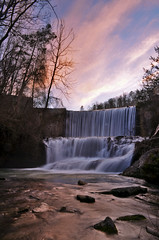 Mirror Lake Dam (Jeka World Photography) Tags: longexposure trees light sunset lake color vertical waterfall rocks dam slowshutter arkansas blanchardsprings ozarknationalforest blanchardspringsrecreationalarea