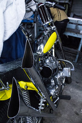 Fishtales (williecb750) Tags: vancouver chopper pipes triumph motorcycle custom exhaust bornfree4