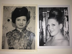 Mom on left, me on right