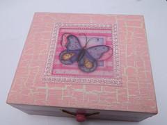 Porta jóias (anac_silva) Tags: artesanato colagem mdf craquelê