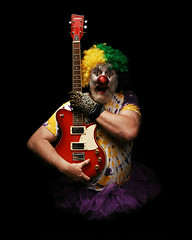 Rock & Roll Clown (Studio d'Xavier) Tags: portrait clown gratefuldead rockroll 365 icp clownwilleatme 365days explored strobist werehere insaneclownpossee 81365 march222013 jeromegarcia