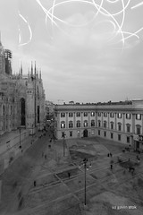 Milan: Light Sky (Gavin Stok) Tags: blackandwhite bw italy milan architecture milano duomodimilano milancathedral buildingexterior rmitphotography