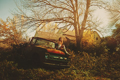 (yyellowbird) Tags: house selfportrait fall abandoned girl illinois cari