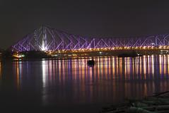 Howrah Bridge at night (BIPLAB ROY CHOWDHURY) Tags: bridge india night kolkata calcutta westbengal howrahbridge howrah