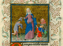Saint Elisabeth donating to the poor (petrus.agricola) Tags: new york saint library medieval illuminated catherine ms hours morgan manuscript elisabeth pierpont cleves m945 m917