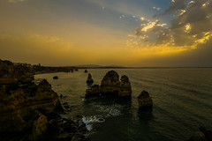 SeaStacks (Costigano) Tags: coast coastline shore shoreline sea ocean seastack rocks atlantic lagos algarve portugal canon eos water waterscape seascape outdoor sun sunlight
