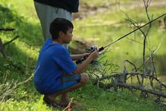 Fishing (iamdeertail) Tags: isaac boy lake pond lakes ponds fish fishing fished hook hooks pole poles trout bass bluegill tree trees brush underbrush twig twigs stick sticks algae