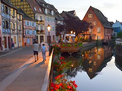 Colmar - the Little Venice (mujepa) Tags: colmar oldtown river halftimbered houses petitevenise colombages reflets reflection platinumheartaward