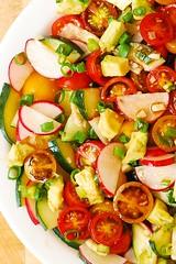 Radish Tomato Avocado Salad with Balsamic Dressing (JuliasAlbum.com) Tags: salad healthy tomatoes radish avocados