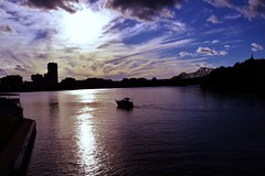 (juliakrull1) Tags: blue sunset shadow sky sun canada water statue clouds contrast buildings river landscape boat outdoor ottawa gatineau