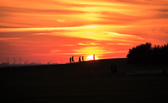 Silhouettes in sunset (Maria Eklind) Tags: ribersborg malm himmel sky solnedgng outdoor sunset turningtorso sweden clouds skneln sverige se siluette silhoutte