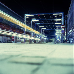 Katowice, Poland. (wojszyca) Tags: yashica mat 124g tlr 6x6 120 mediumformat fuji fujichrome t64 rtp tungsten slide epson 4990 night longexposure city urban katowice