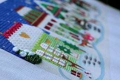 August 20 2016, Saturday (interchangeableparts) Tags: project365 needlepoint beadedswags withtufts offrostyrayssnow