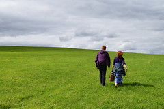 Mother and Son (StevenParsons42) Tags: walking walk rural landscae grass mother son family field