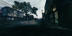 Innsmouth City Centre (mj4ust) Tags: innsmouth city old vintage secondlife rustic sl photography scenery dark