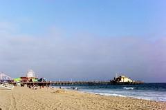 Santa Monica Beach Pier (kawehna) Tags: pentax k1000 35mm fujifilm colorfilm filmisnotdead ishootfilm asahi santamonica beach losangeles la california westcoast pier socal