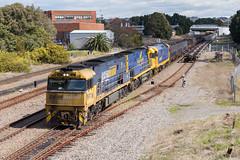 "2016-08-27 Pacific National NR117-NR28-8112 Port Waratah 6BW4 (Dean ""O305"" Jones) Tags: mayfieldeast newsouthwales australia au 6bw4 nr117 nr28 8112 pacific national intermodal steel train steellink port waratah nsw"