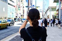 At Ginza San-chome :  (Dakiny) Tags: japan tokyo chuo chuoku ginza 2016 summer august city street landscape people woman girl portrait bokeh nikon d7000 afsdxnikkor35mmf18g nikonafsdxnikkor35mmf18g nikonclubit