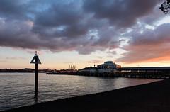 Devonport skies at dusk 17 08 16 (Den Rob) Tags: nikon d750 sigma 24mm f14 devonport new zealand dusk august ferry terminal