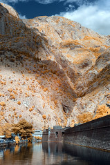 Skurda River and Fortification Wall (Marz88) Tags: walls fortification kotor montenegro ir infrared trees