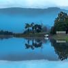 Blues (raymond_carruthers) Tags: lochard trossachs nationalpark reflections kinlochard boats boathouse lochs scotland clouds