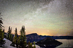 Starry Llao (cloudtop2000) Tags: llaomtn galaxy craterlake starrynight carded
