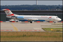FOKKER100  Austrian OE-LVE 11499 Stuttgart Juillet 2016 (paulschaller67) Tags: fokker100 austrian oelve 11499 stuttgart juillet 2016