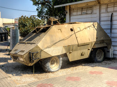 early armored car (maskirovka77) Tags: israeldefenseforces idf museum idfmuseum tanks m48 outdoors hdr armoredcar artillery antiaircraft armoredpersonnelcarrier bridgingequipment
