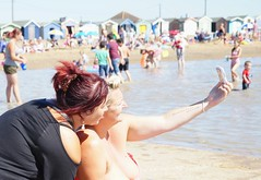 Family Portrait (Timm Ranson) Tags: socialdocumentary people coast seaside essex brightlingsea women selfie photograph photo timmranson facebook phone sunny summer streetphotography