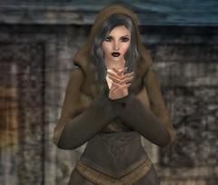 Anachron - Druidess Hooded Dress (w/Hair) - SoS - Walnut (melyna.foxclaw) Tags: anachron spoonfulofsugar sos druidesshoodeddress lumae glamorize raddesignz doctorswithoutborders iheartslfeed