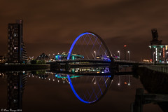 The Clyde Arc....Glasgow Scotland (Owen Piscopo) Tags: glasgow clydearc bridge scotland nikon nikon2470f28 river night owenpiscopo arc