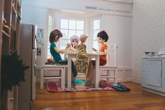 Uno with friends (Sharon Wright Photography) Tags: bjd ball jointed doll maurice little ted lizfrost jpopdolls kayewiggs sharonwright dollpics photography blogger editorial toys uno games teachersworkday hang out friends kids play cards diorama
