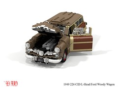 Ford 1949 Woody Wagon (lego911) Tags: ford 1949 woody wagon 1940s classic usa america auto car moc model miniland lego lego911 ldd render cad povray lugnuts challenge 107 saturdaymorningshownshine saturday morning show n shine spinner