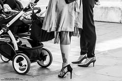 Modern Mom (-Andreyes- www.andreabastia-photo.com) Tags: mamma moderna modern mom passeggino carrozzina bn biancoenero bambino neonato scarpe tacchi tatuaggio gambe wwwandreabastiaphotocom
