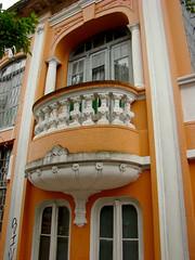 Casa Comunista (Gijlmar) Tags: brasil brazil brasilien brsil brasile brazili portoalegre  riograndedosul amricadosul amricadelsur southamerica amriquedusud city urban orange balcony janela venster finestra okno fenster window ventana fentre ablak